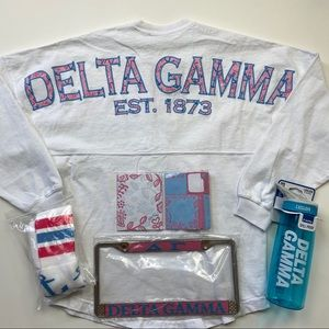 Delta Gamma Sorority Jersey Style Shirt Bundle